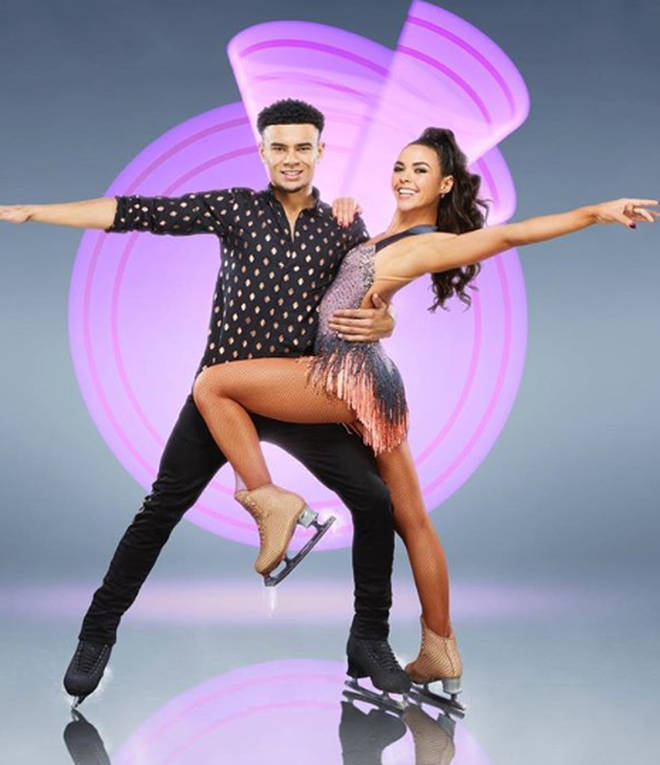 Wes Nelson and Dancing On Ice partner Vanessa Bauer