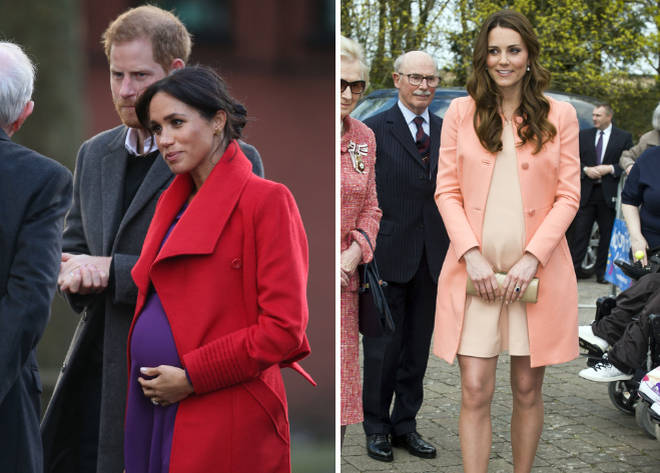 Meghan Markle and Kate Middleton baby bumps