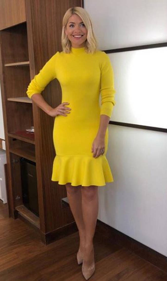 Holly Willoughby yellow This Morning dress