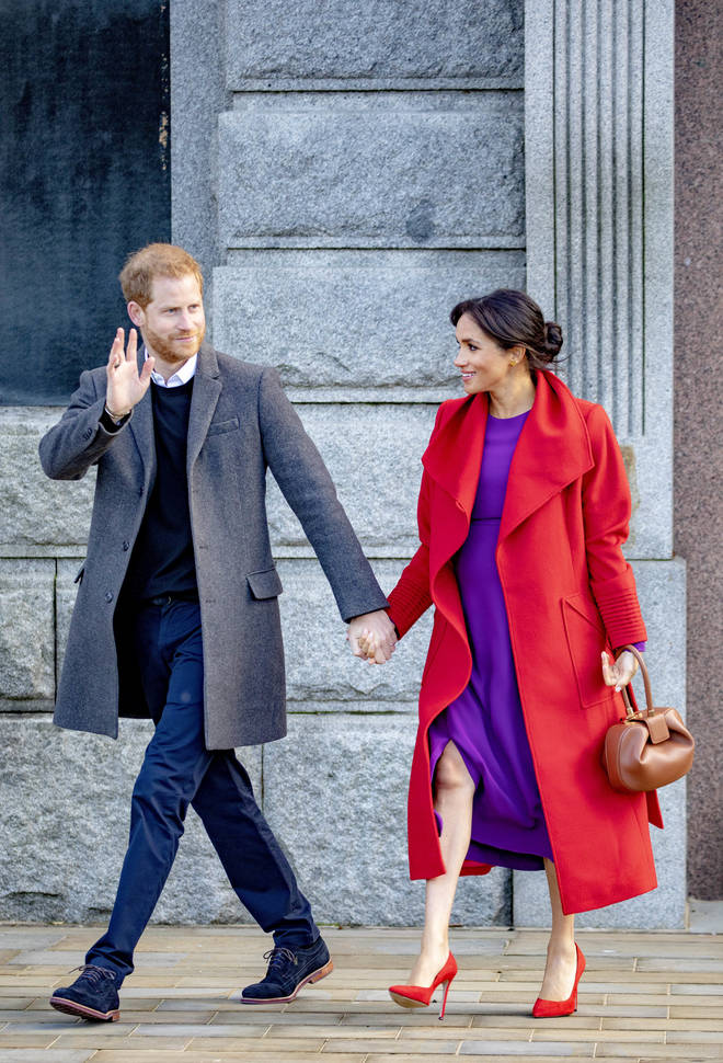 Prince Harry and Meghan Markle at a recent royal visit to Birkenhead