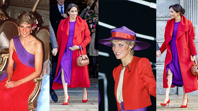 Meghan Markle is taking fashion tips from Princess Diana