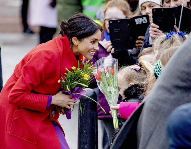 Meghan Markle revealed her due date while in Birkenhead on 14 January 2019