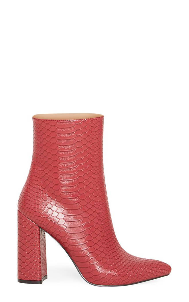 These snakeskin boots are perfect for the January cold