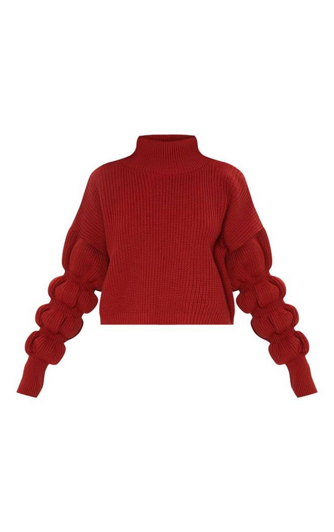 Kelly's Pretty Little Thing jumper has cute bubble sleeves