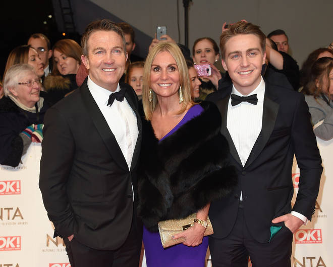Barney with his dad Bradley and mum Donna