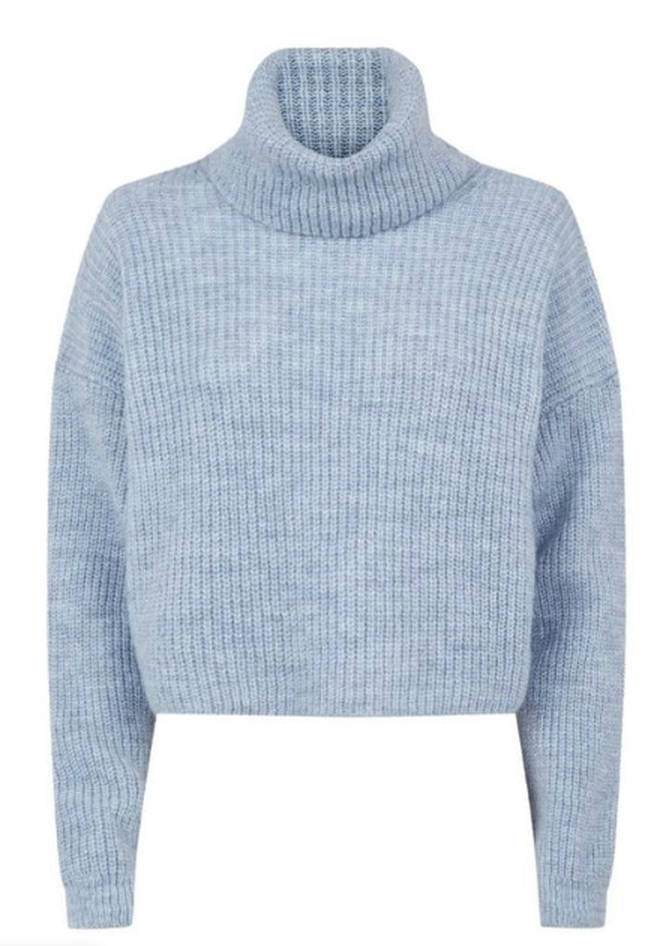 We are loving this boxy blue jumper from New Look