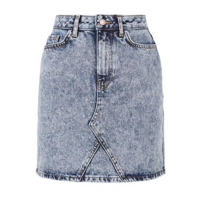 This acid wash denim skirt is so 80s
