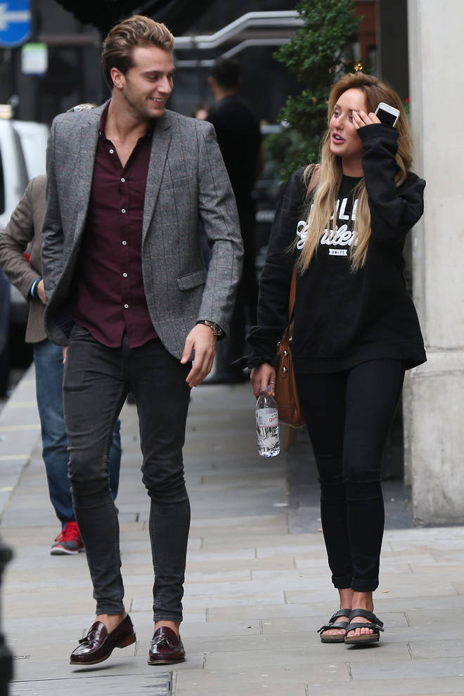 Max - pictured here with fuller hair - dated Geordie Shore star Charlotte Crosy in 2015