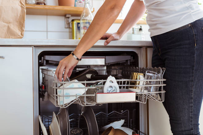 A mum has revealed a genius hack to keep your dishwasher clean and fresh (stock image)