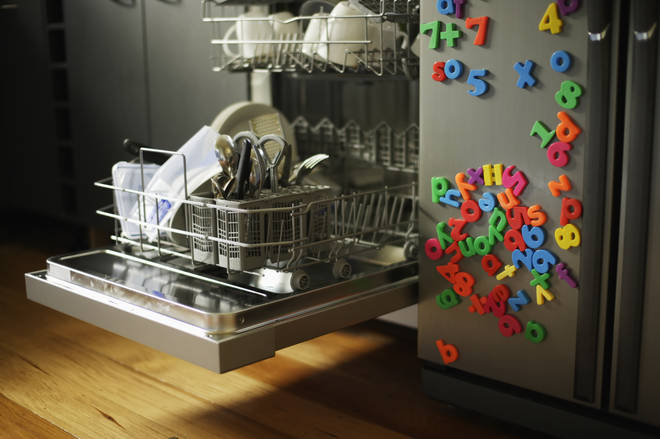There might be hidden BLACK SLIME in your dishwasher (stock image)