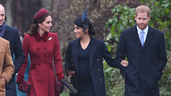 The royal family attend Christmas Day mass