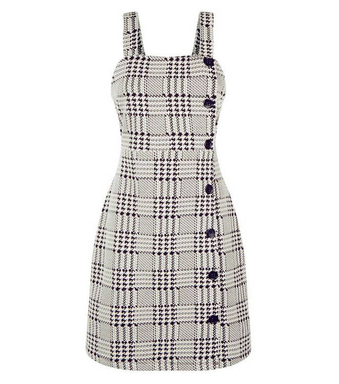 There is a monochrome version of Kelly's dress available on the New Look site