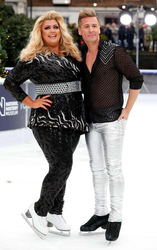 Matt Evers and Gemma Collins on Dancing On Ice