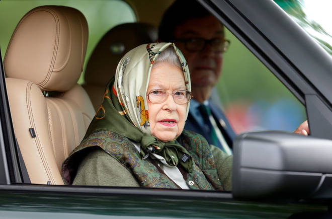 The Queen is often spotted driving her Landrover