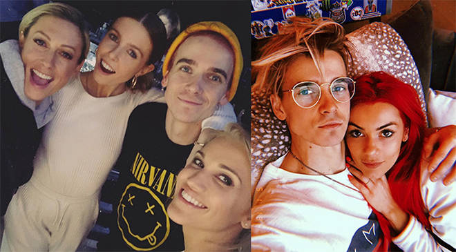 Joe Sugg and Dianne Buswell have been accused of huge PDA on the Strictly tour set