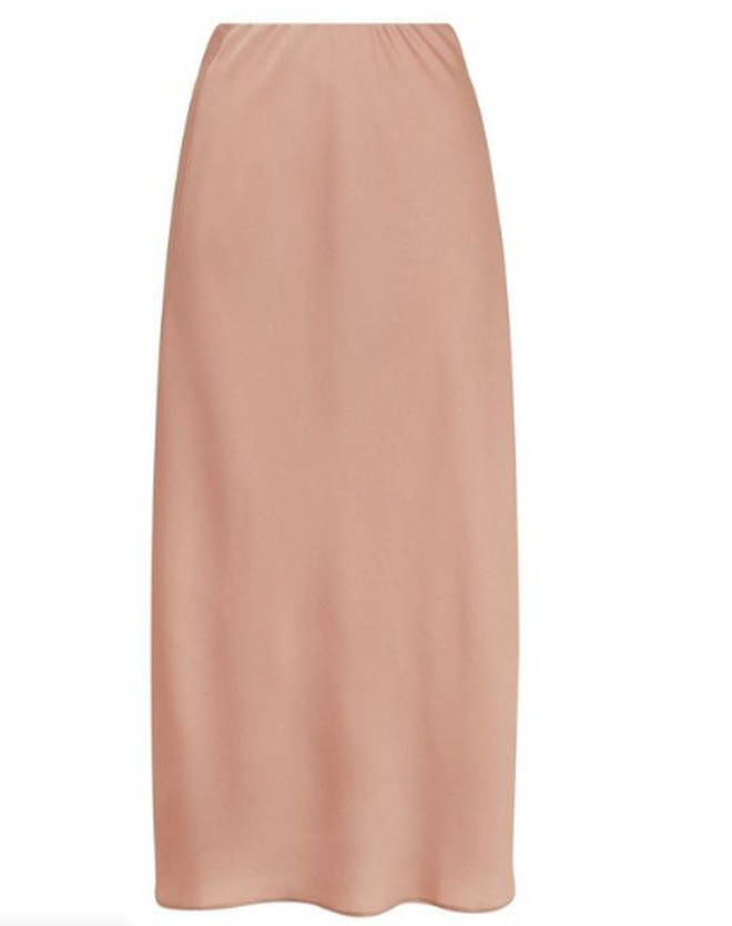Satin skirts are so on trend right now