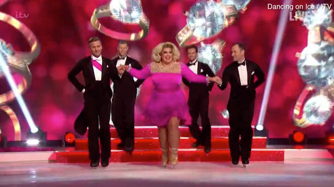 Gemma Collins and Matt Evers danced a Marilyn Monroe inspired routine