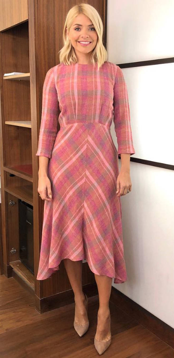 Holly Willoughby This Morning Mango dress