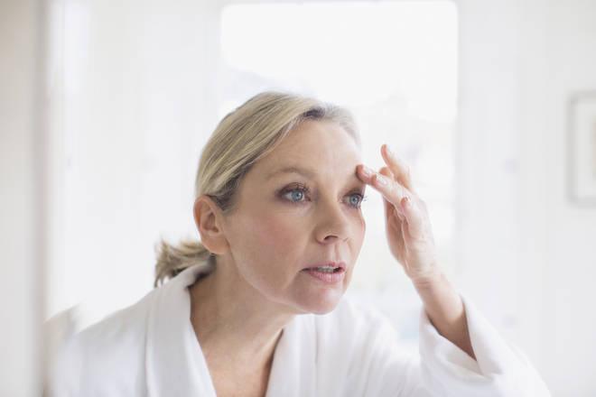 Woman ageing, wrinkles