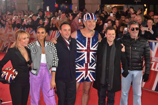 Ant and Dec film Britain's Got Talent