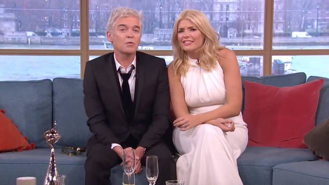 Holly Willoughby and Phillip Schofield appeared in their evening clothes the morning after the 2016 NTAs