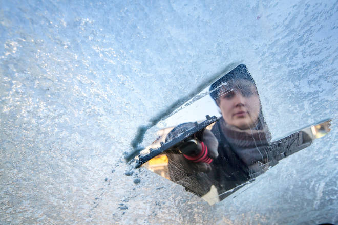 Using a scraper on your car rather than water could be safer for everyone