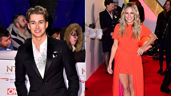 AJ Pritchard and Caroline Flack were spotted getting cosy at the NTAs