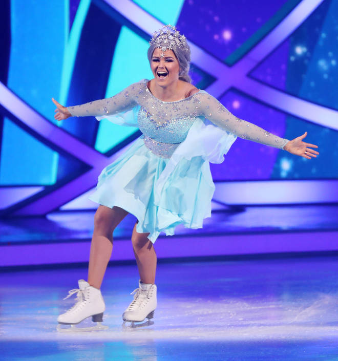 Saara made Dancing On Ice history when she sung AND skated during last week's show