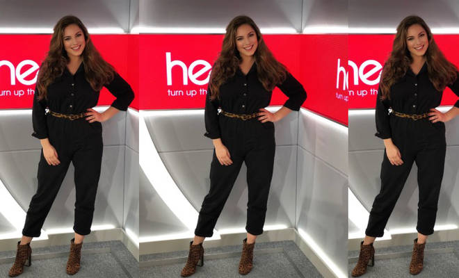 Kelly Brook in the Heart studio today