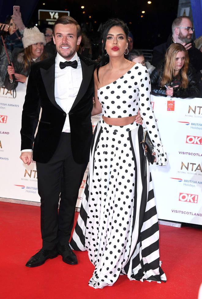 Cara and Nathan at last week's National Television Awards