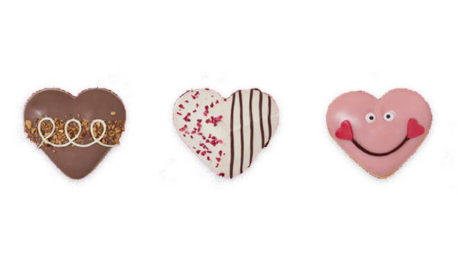 Give the gals a gift of heart shaped Krispy Kremes this Valentine's