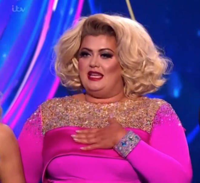 Gemma Collins has denied purposefully falling over on Dancing On Ice
