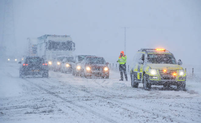 Drivers faced difficult conditions on the roads this morning