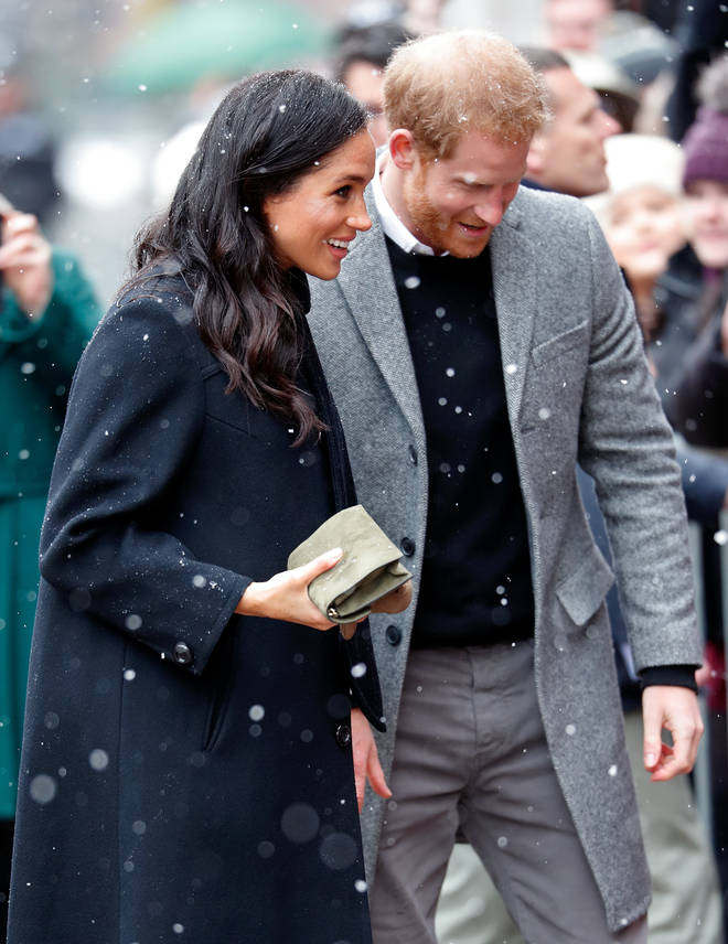 The Duke and Duchess of Sussex pictured together on a recent outing