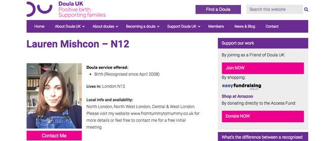 Lauren's profile on Doula UK