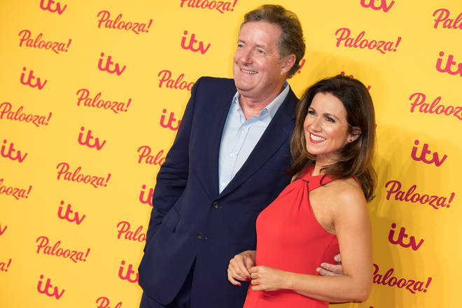 Piers presents GMB with co-host Susanna Reid