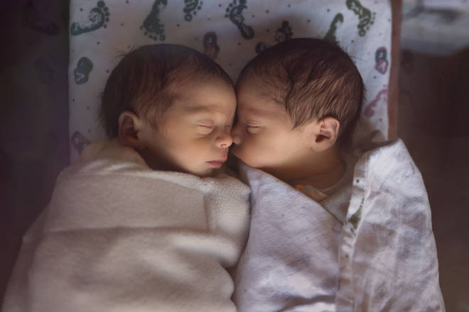 A woman from Michigan found out she was having twins DURING labour (stock image)