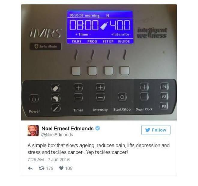 Noel Edmonds is no longer on Twitter but here is the controversial Tweet he sent in 2016