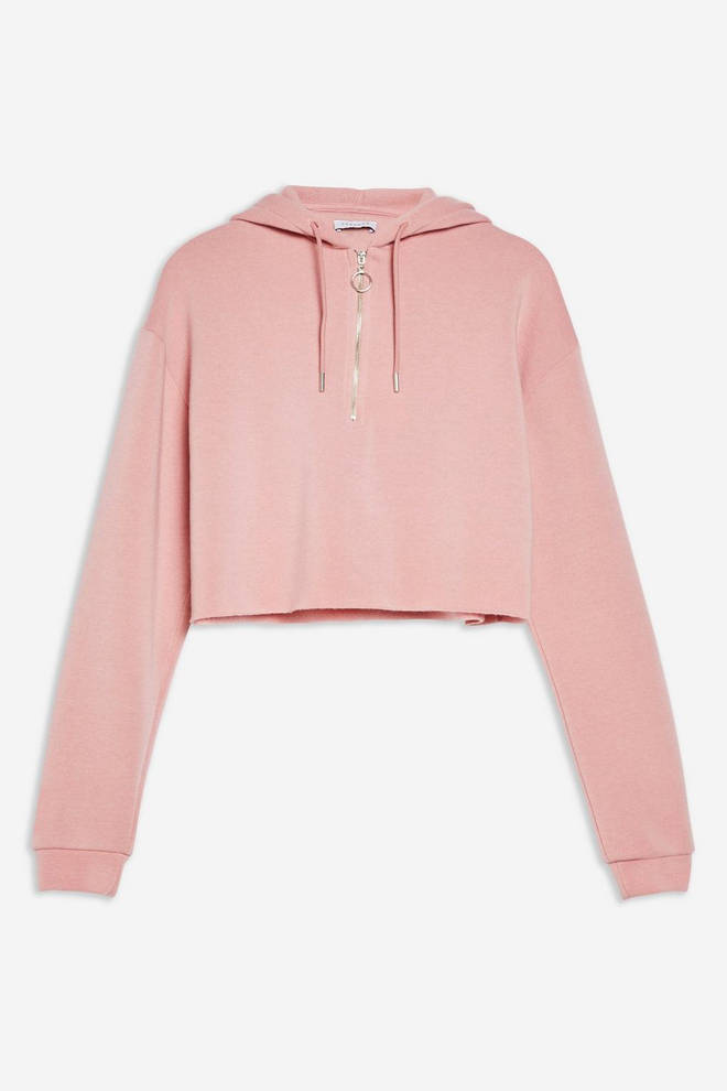 This cute pink hoodie is from Topshop