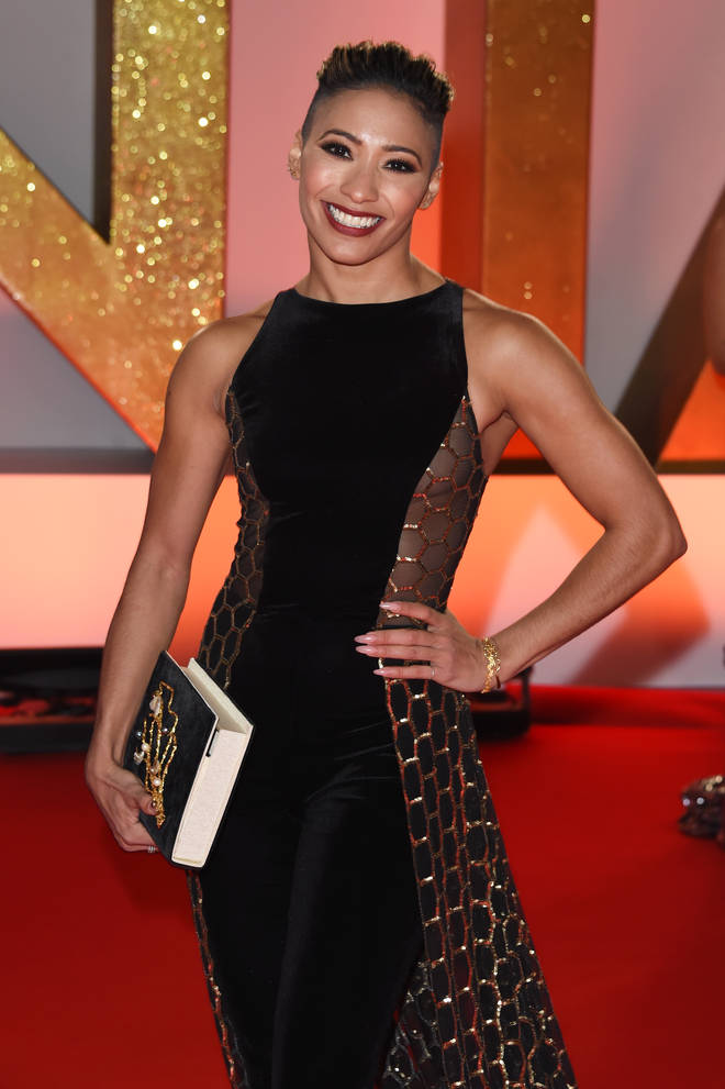Karen Clifton pictured at the National Television Awards last month