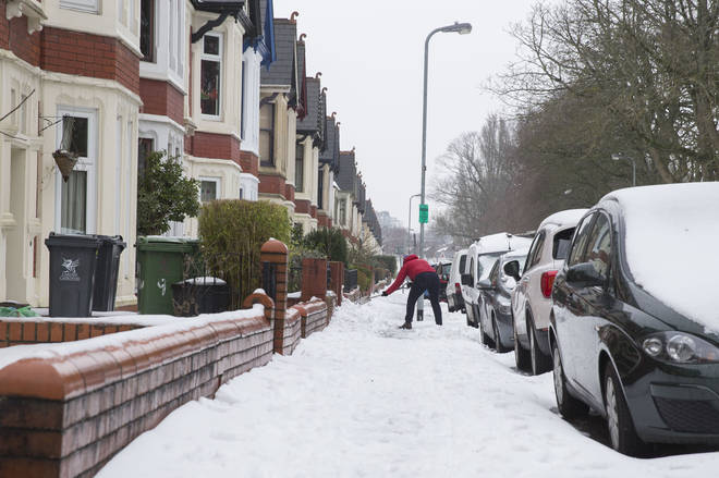 Cardiff was covered in a thick blanket of snow last week - and there could be a LOT more to come