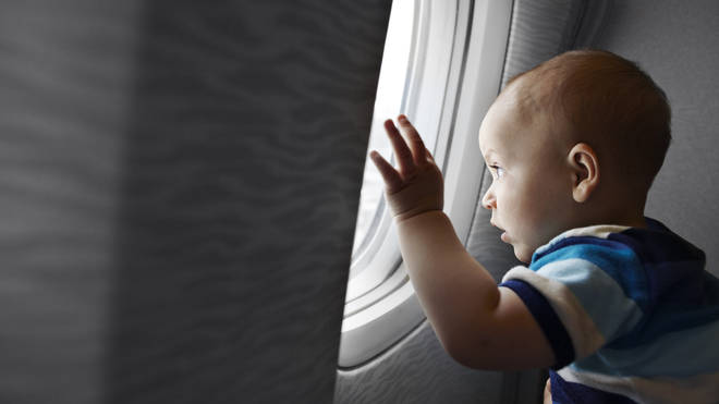 A male passenger made his disapproval clear when the blogger brought her two-year-old on the flight (stock image)