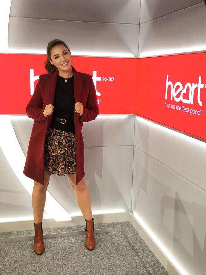 Kelly Brook is looking fab in the Heart studio today!