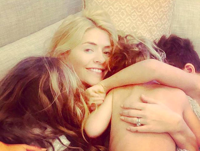 Holly Willoughby has shared a rare family snap to celebrate her birthday