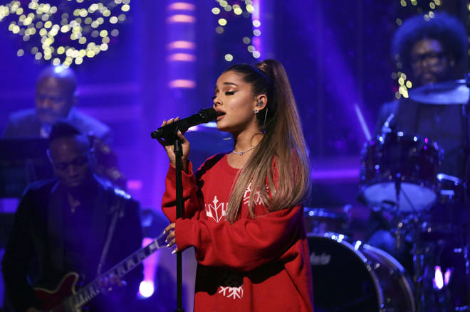 Ariana Grande's real hair is considerable shorter than her signature style