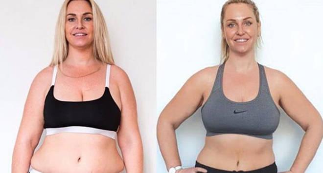Josie Gibson showed off her slimmer figure online