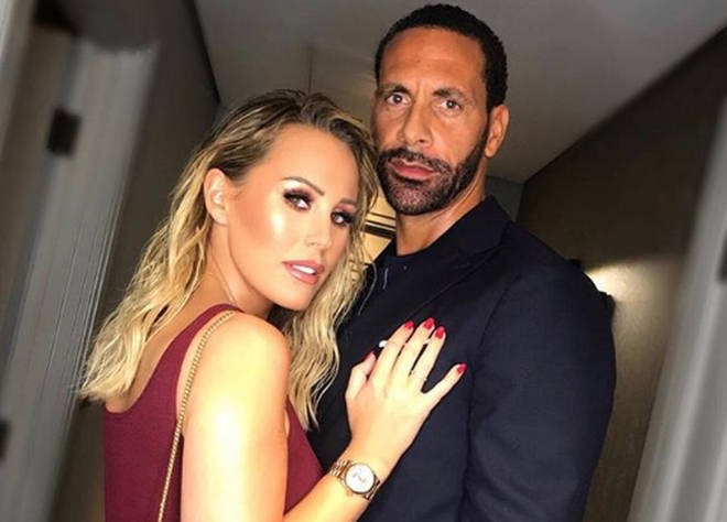 Kate Wright and Rio Ferdinand got engaged late last year