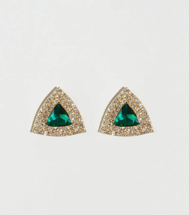 These gorgeous green diamante earrings are from New Look