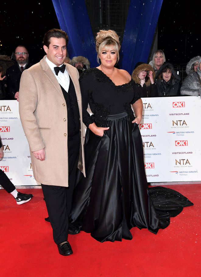 Gemma Collins with her partner James Argent at the NTAs in January