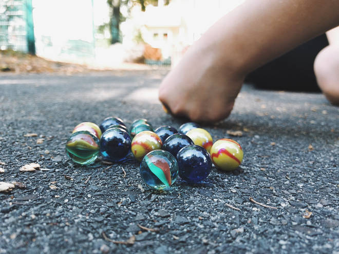 Marbles is a classic game the younger generation will enjoy